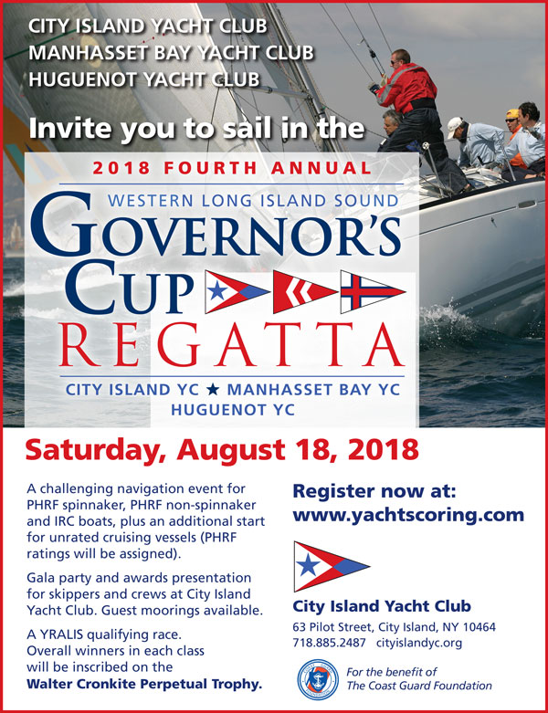 4th Annual Western Long Island Sound Governor's Cup Regatta - August